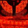 Fita Led Vermelha 24v Ip65 Smd3528 - Rolo Com 5 Metros