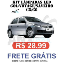 Kit Lampadas Led P/ Gol G5 / G6 - Super Promoçao Anx Leds
