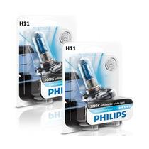 Lâmpada H11 + H1 Philips Diamond Vision 5000k Super Branca