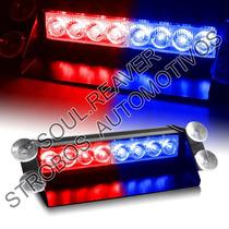 Giroflex Strobo Interno C/ Ventosas 8 Leds Vermelho/azul