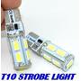 Par Lampada T10 Pingo 9 Led 5630 Strobe Pisca Frete R$6,00