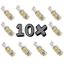 Kit 10 Lampadas Super Leds Pingos 25x + Forte 9 Leds Xenon