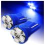 Par Pingo T10 4 Leds Azul - Super Oferta - Valor Do Par