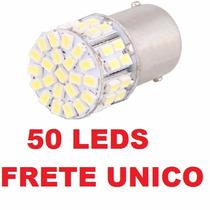 Lampada 1 Polo 50 Leds 5050 Smd Luz De Ré E Placa 1156 P21w