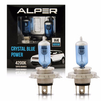 Lampada Alper Super Branca H4 12v Crystal Blue Power