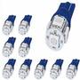 Kit 10 Lampadas W5w T10 5 Smd 5050 12v Azul Frete Gratis