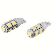 Lâmpadas Par Pingo 9 Leds Smd T10 Branco Super Luminosidade