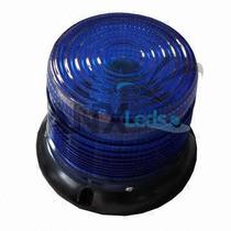 Giroflex 72 Leds Sinalizador C/ Imã Azul - 12v