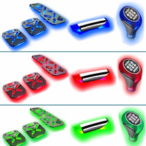 Super Kit:pedaleira+cambio+manopla Freio+ 2 Barra Neon Leds