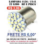 Lampada De Ré Branca 1 Polo Led Luz Placa 22 Leds 1156 P21w