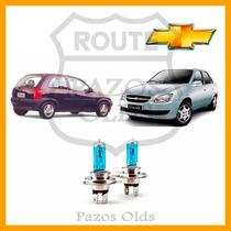 Par Lâmpada Farol Luz Super Branca 55w 4700k Corsa/ Classic