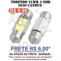 Lampada Torpedo 31mm 4 Leds Smd Canbus Canceller - Unidade