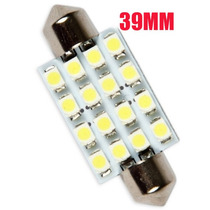 Lampada Torpedo 39mm 16 Led Super Branca Teto Placa Xenon