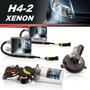 Kit Xenon Carro Moto H4-2 Xenon Halógena Mesma Lâmpada 2 E 1