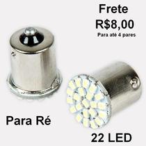 Par Lâmpada Led Ba15s 1156 Super Branca P/ Luz De Ré