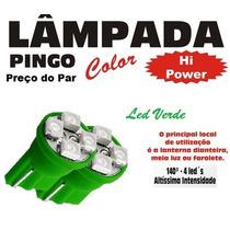 Lampada Pingo Pingão 4 Led Hi Power - O Par - Verde
