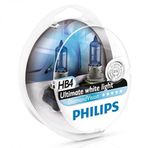 Lampadas Philips Hb4 Diamond Vision 5000k Super Brancas