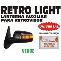 Pisca Retro Light - Para Retrovisor Em Neon - O Par - Verde