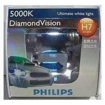 Lampada Diamond Vision Phillips H7 5000k Efeito Xenon Hid