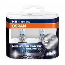 Par Lampada Osram Night Breaker Unlimited Hb4 +110% Luz