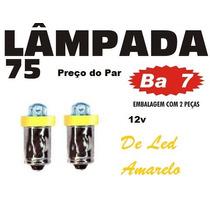 Lampada 75 Pisca Luz De Teto Cortesia - O Par - Amarelo