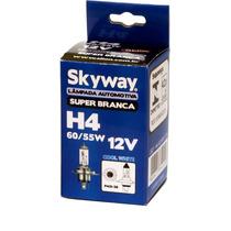 Lâmpada Super Branca Faról Luz H4 55w Homologada Inmetro