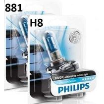 Lâmpada Xenon Diamond H27 881 E H8 Philips 5000k