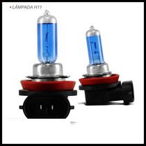 Par Lampada Super Branca Tipo Xenon Hb4 H11 8500k