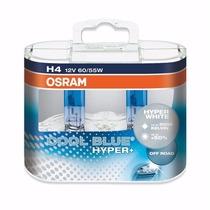 Lâmpadas Osram Cool Blue Hyper H4 5000k A Original + Brindes