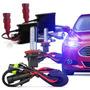 Kit Xenon Hid Lampada H1 H3 Hb4 H8 H11 6000k 8000k 10000k