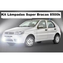 Kit Lâmpadas Super Branca P/ Palio H1 H7 H4 Tipo Xenon 8500k