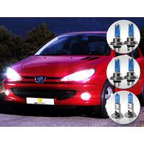 Lâmpada Super Branca Peugeot 206 01 A 10 - Alta Baixa Milha