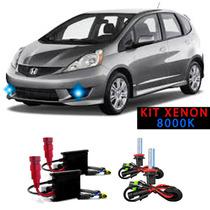 Kit Xenon H11 8000k Para Farol Milha Honda Fit 2007 A 2011