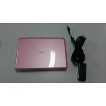 Netbook Qbex Rosa Usado Com Carregador Mini Netbook Barato