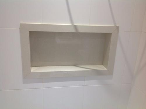 Nicho De Porcelanato Para Banheiro  R$ 230,00 no MercadoLivre -> Nicho Banheiro Mercadolivre