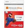 Cartão Nintendo 3ds Wii U Eshop Cash Card $60 ($50+$10) Usa