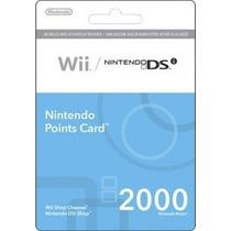 Cartão Nintendo Ds - Wii 2000 Points
