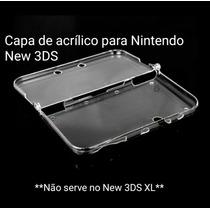 Capa/case De Acrílico Transparente Para Nintendo New 3ds