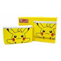 Nintendo 3ds Xl Pikachu Pokemon + 4gb + Ar Cards + Menu Pt