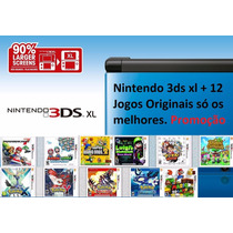 Nintendo 3ds Xl + 12 Jogos Originais Pokemon X Y Mario Saphi