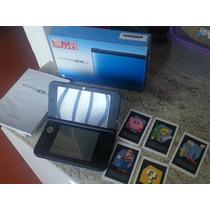 Nintendo 3ds Xl Com Caixa, Película, Case + Case P/ 2 Jogos!