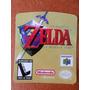 Label Nacional Zelda 64 Gradiente - Etiquetas Fitas N64 !