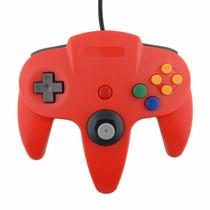 Joystick Controle Nintendo 64 N64 Vermelho P/ Pc Usb Gamepad