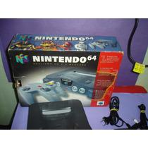 Nintendo 64 Na Caixa Com 1 Controle Orig , Cabo Av E 1 Fita