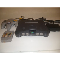 Nintendo 64 Controle Cabo Av E Fonte Originais E 1 Fita