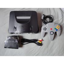 Nintendo 64 Zerado + 1 Controle + 2 Fitas A Escolher