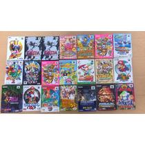Lote De Fitas Nintendo 64 +games Para Colecionadores.