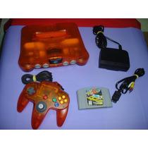 Nintendo 64 Multisabores Laranja Com 1 Controle E 1 Fita