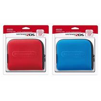 Case Nintendo 2ds Azul - Vermelha Original Capa E-sedex