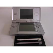 Nintendo Ds Lite C/ Carregador, Case E Diversos Jogos Orig